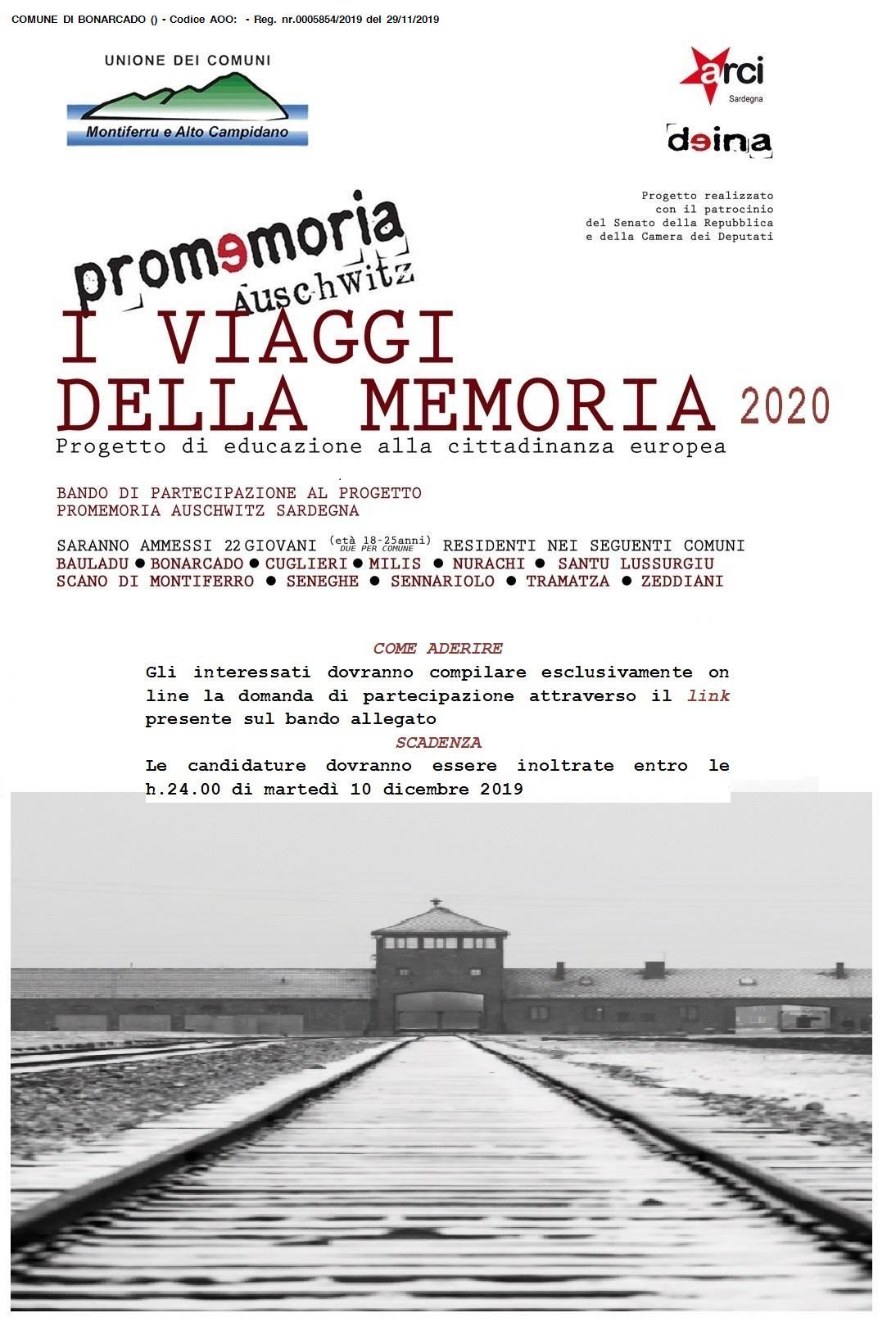 VIAGGI DELLA MEMORIA 2020