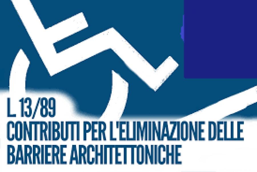 SCADENZA PRESENTAZIONE RICHIESTE CONTRIBUTO ABBATTIMENTO BARRIERE ARCHITETTONICHE