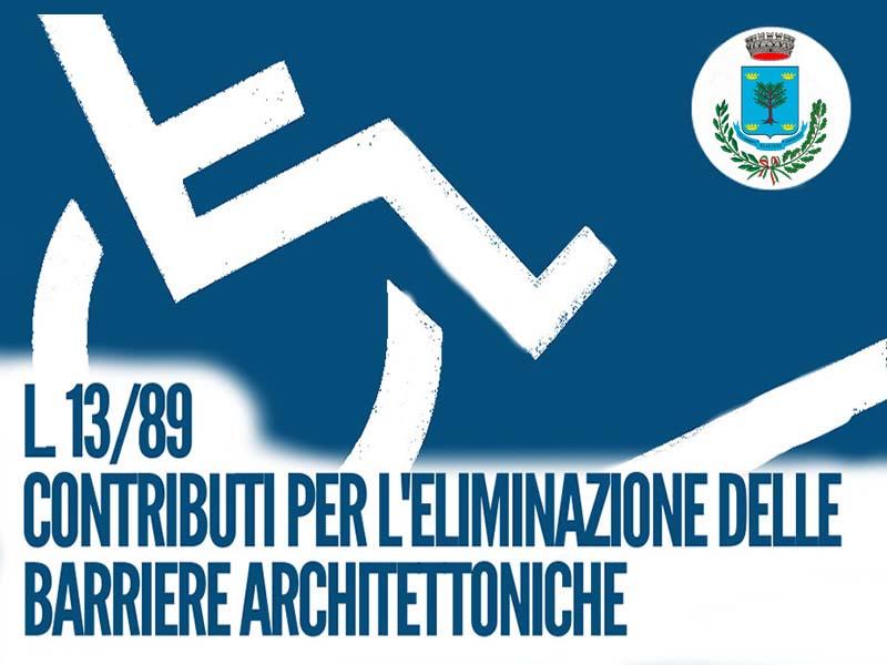 CONTRIBUTI PER ABBATTIMENTO BARRIERE ARCHITETTONICHE  ANNO 2019