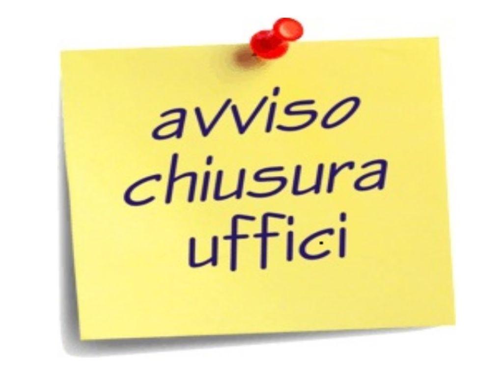 CHIUSURA UFFICI COMUNALI PER LE FESTIVITA' NATALIZIE