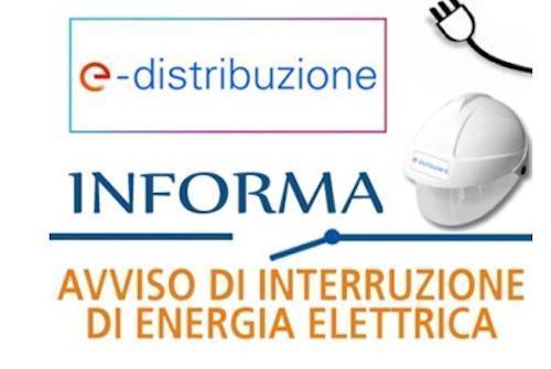 AVVISO INTERRUZIONE ENERGIA ELETTRICA